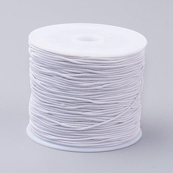 Elastic Cords, Stretchy String, for Bracelets, Necklaces, Jewelry Making, White, 0.8mm; 24~26m/roll