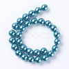 Environmental Dyed Glass Pearl Round Beads StrandsHY-A002-14mm-RB073N-2