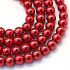 Baking Painted Glass Pearl Bead Strands X-HY-Q003-3mm-51-1