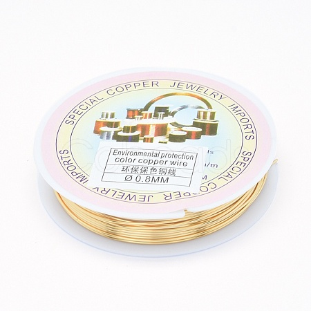 Environmental Copper Jewelry WireCWIR-P001-01-0.8mm-1