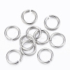 304 Stainless Steel Open Jump Rings X-STAS-H555-05P-1