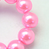 Baking Painted Pearlized Glass Pearl Round Bead StrandsX-HY-Q330-8mm-68-3