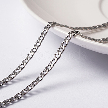 Vacuum Plating 304 Stainless Steel Twisted Chain Curb Chains CHS-H007-29P