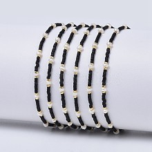 Adjustable Nylon Cord Braided Bead Bracelets X-BJEW-P256-A01
