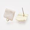 Iron Enamel Stud Earring FindingsX-IFIN-N003-15E-2