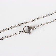 304 Stainless Steel Cable Chains Necklace Making X-STAS-P045-01P