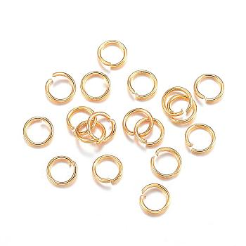 304 Stainless Steel Jump Rings, Open Jump Rings, Golden, 26 Gauge, 3x0.4mm