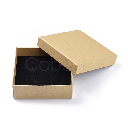 Kraft Paper Cardboard Jewelry BoxesCBOX-WH0001-D05-1