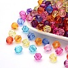Mixed Color Transparent Acrylic Faceted Round BeadsX-PL990Y-1