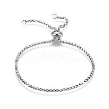 Adjustable 304 Stainless Steel Slider Bracelets BJEW-L653-002A-P