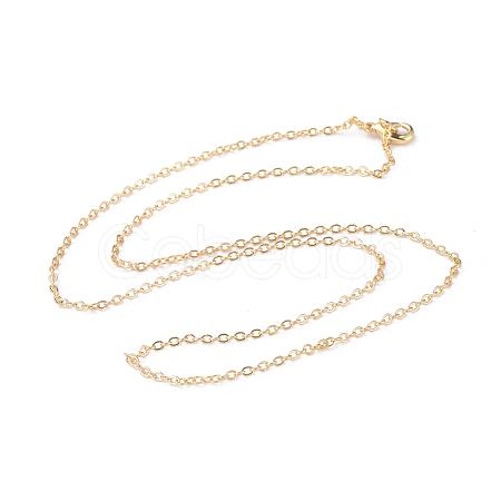 Brass Chain Necklaces MakingX-MAK-L009-04G-1