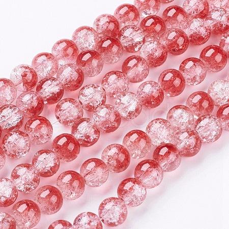 Crackle Glass Beads StrandsGGC8mmY-A74-1