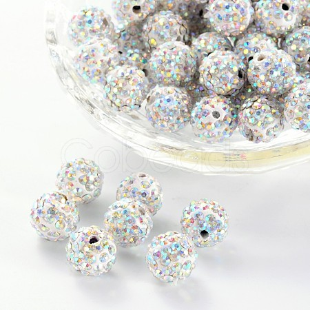 Pave Disco Ball BeadsRB-A130-10mm-11-1