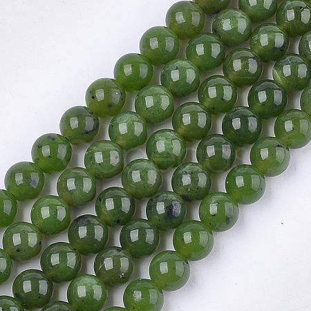 Natural Canadian Jade Beads StrandsG-S333-8mm-024-1
