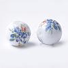 Printed & Spray Painted Glass BeadsX-GLAA-S047-02B-10-2