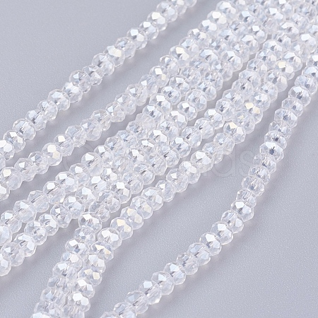 Electroplate Glass Beads Strands X-EGLA-R048-2mm-01-1