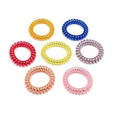 Opaque Plastic Telephone Cord Elastic Hair TiesOHAR-Q044-36-1