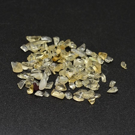 Natural Citrine Chip Beads G-O103-09-1