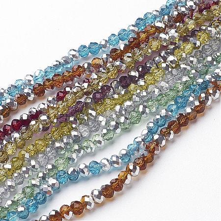 Electroplate Glass Bead StrandsGR4MMY-M1-1