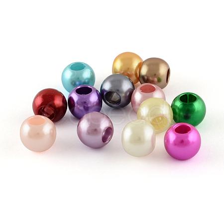 ABS Plastic Imitation Pearl BeadsX-MACR-R530-20mm-M-1
