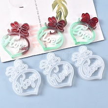 Christmas DIY Heart with Word Noel Silicone Molds X-DIY-L021-64