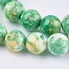Synthetic Ocean White Jade Beads StrandsG-L019-8mm-M-3