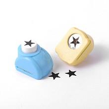 Random Single Color or Random Mixed Color Mini Plastic Craft Punch Sets for Scrapbooking & Paper Crafts AJEW-F003-27C