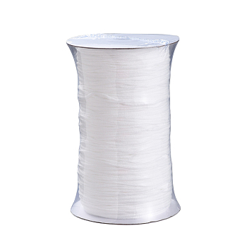Round Polyester & Spandex Elastic Band for Mouth Cover Ear Loop, DIY Disposable Mouth Cover Material, White, 2.8mm; 300yard/Roll